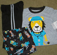 New! Boys Carter's 3 pc (Doctor Lion/Tiger PJs) Pajamas Sleep Set - Size 12 mo