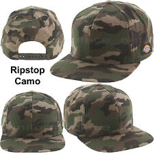 Dickies Hats Snap back Flat Visor Baseball Cap Dickies Logo Camo 2-tone Colors