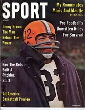 1962 (Jan.) Sport Magazine Football, Jimmy Brown, Cleveland Browns ~ Good