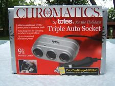 CHROMATICS by TOTES TRIPLE AUTO SOCKET CAR TRUCK CAMPER CIGARETTE LIGHTER POWER