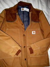 VTG CARHARTT USA RUGGED CANVAS COTTON BLANKET WOOL LINED YOKED HUNTING JACKET- M