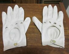 Vintage Van Raalte Size 7 1/2 Nylon Snap Gloves Off White