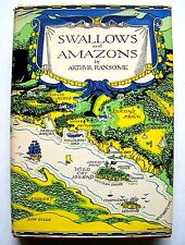 1958 Edition SWALLOWS AND AMAZONS By ARTHUR RANSOME & HELENE CARTER w/DJ