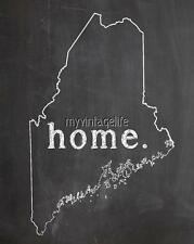 "MAINE HOME STATE PRIDE 2"" x 3"" Fridge MAGNET CHALKBOARD CHALK COUNTRY"