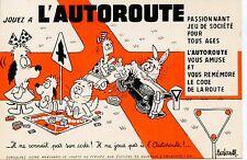 BUVARD PUBLICITAIRE / JOUEZ A L'AUTOROUTE / ILLUSTRATEUR BARBEROUSSE / CHAT CAT