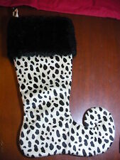 "DALMATION CHRISTMAS STOCKING,By ""Donna Salyer's Fabulous Furs- Turned Up Toe NEW"