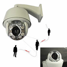 30X SONY CCD CCTV 750TVL PTZ Auto Tracking ZOOM DOME OUTDOOR 8PCS IR Camera SYS.