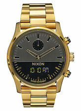NEW Nixon A932 595 Duo Gunmetal Gold Men's Stainless Steel Watch