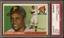 1955 TOPPS ROBERTO CLEMENTE RC #164 PSA 2 GOOD (MC) HOF NICE LOOKING ROOKIE CARD