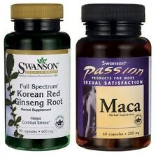 SWANSON Korean Red Panax Ginseng Root & Maca Sexual Health, Male & Female Sex