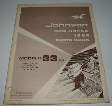Parts Book Ersatzteilkatalog Johnson Sea Horse Model 33 HP Electric Stand 1969!