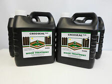 Creoseal Plus - Dark Brown - 4 x 4L  16 Litre - Oil Based Timber Treatment
