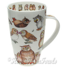 New large 600ml Dunoon Fine Bone China Mug /Twitter /owls  by Cherry Denman