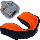 VELO Pro Gel Gum Shield Mouth Guard Boxing MMA Junior Adult Hockey Box Orange