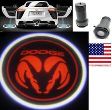 2X LED Car door laser projector Fit: Red Dodge Led Emblem Logo Shadow light
