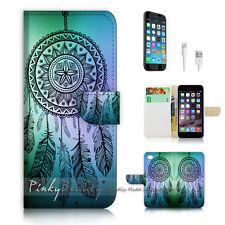 iPhone 7 PLUS (5.5') Flip Wallet Case Cover P0419 Dream Catcher