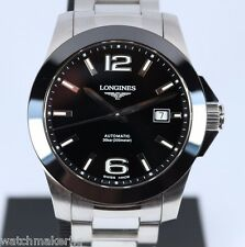 Longines Conquest Stainless Steel & Ceramic Automatic Mens Ref. L3.657.4
