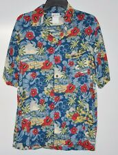 Disney Parks Hawaiian Button Shirt Mens Size Small Mickey Mouse Camp Shirt