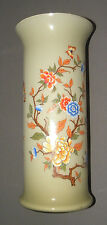 """Vintage Antique Large Glass Flower Vase Toscany Made in Italy Handpainted 14"""""""