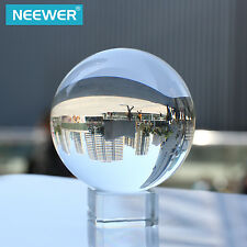 Neewer 80mm Clear Crystal Ball Globe with Free Crystal Stand for Divination Deco