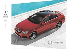 2014 14  Mercedes Benz E  Class  Original  brochure