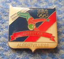 NOC USA OLYMPIC ALBERTVILLE 1992 SKI FREESTYLE  PIN BADGE