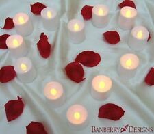 US 12pcs LED Flameless Tealights Battery Operated Flickering Tea Light Candles
