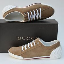 GUCCI New sz 38.5 G - US 9 Auth Womens Designer Camel Web Logo Shoes Sneakers