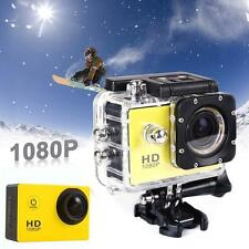 Video Full HD 1080P 12MP Cam 30M caméra étanche Action Sports DV DVR Jaune DC