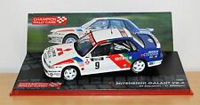 Mitsubishi galant VR-4, m. ericsson, 1000 lacs 1989, 1/43 diecast rally voiture.