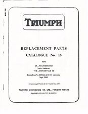 Triumph Parts Manual Book 1961 Tiger 110 T110