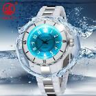 Fashion LED Light Waterproof Black Stainless Steel Mens Sport Quartz Watch OHSEN