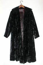 VTG 60s GUS MAYER NEW ORLEANS BLACK VELVET LUXURY OPERA CLOAK COAT CAPE M 12/14