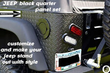 "JEEP CJ7 OR YJ WRANGLER ""black"" 3 PC DIAMOND PLATE REAR CORNER GUARDS"