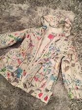 Girls White Ditsy Floral Cagoule Mac Jacket Coat NEXT Age 3-4yrs