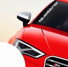 Quattro Sticker für die Frontscheibe ✔ + gratis Audi Aufkleber ✔