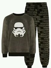 DISNEY Star Wars Darth Vader da Uomo in Pile BIRICHINO PYJAMA Set PJs Primark ukxs GRIGIO
