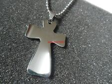 Lot 5pcs In Bulk stainless steel 1.6 in Polished Cross Pendant Necklace silver