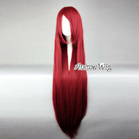 Long Straight 100CM Red Lolita Fashion Party Heat Resistant Cosplay Full Wig