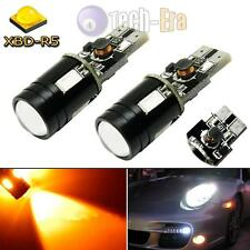 2pcs High Power T10 Amber 9W CREE LED Car Sidemarker Light Bulb 2821 W5W 158 184