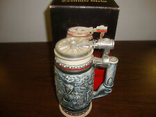 """Age Of The Iron Horse---Ceramic Stein---Avon---Pewter Lid--#91691--9"""" Tall--1982"""