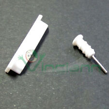 TAPPO stopper ANTI POLVERE Tappi bianco opaco latte per iPad  iPhone 3Gs 4 4s