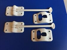 6 Inch White Cargo Door Holders Lot Of 2 New Old Stock