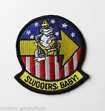 US NAVY F-14 TOMCAT SLUGGERS BABY EMBROIDERED PATCH 3 INCHES