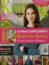 Knitting Magazine UK Spring New Patterns Spring Apr 15 FREE PRIORITY SHIPPING