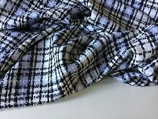 Designer Luxury MultiColour Wool Check Boucle Fabric Seen Online Catwalk Images