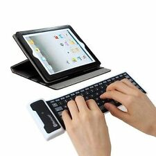 Wireless Bluetooth Waterproof Silicone Keyboard For iPad 2 3 4 Mini Samsung Tab