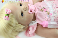 "Reborn Real Looking Baby Full Body Silicone 22"" Lifelike Newborn Baby Doll"