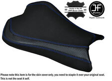 CARBON GRIP BLUE DS ST CUSTOM FITS KAWASAKI ZX10R 1000 08-10 FRONT SEAT COVER