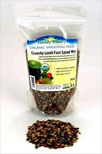 16 OZ-ORGANIC LENTIL SPROUTING SPROUT SEED MIX - BLUE, GREEN & RED- DRIED / SOUP
